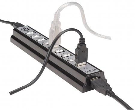 MANHATTAN Hi-Speed USB 2.0 Desktop Hub, 10 portů