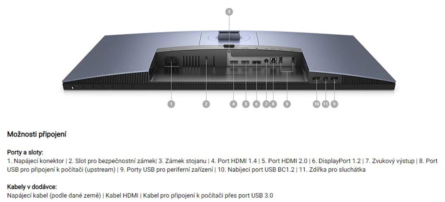 DELL S2719DGF QHD TN 16:9/1000:1/1ms/350cd/ VESA/ HDMI/ DP/3RNBD