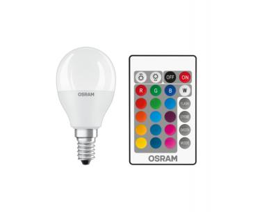 OSRAM LED STAR+ CL P RGBW Fros. 5,5W 827 E14 470lm 2700K (CRI 80) 25000h A+ DIMmable Rem Ctrl (Krabička 1ks)